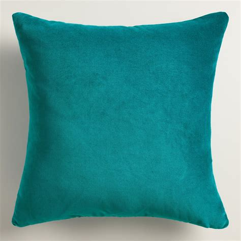 Green Velvet Throw Pillows by X