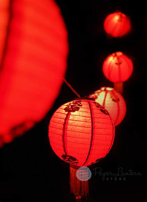 traditional chinese  year paper lantern string