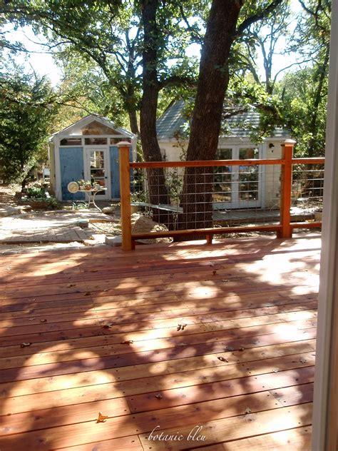 botanic bleu  steps  redwood deck design