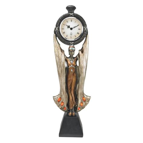 Decorative Table Clocks by Deco Style Gowned Maiden Sensuous Decorative Desk