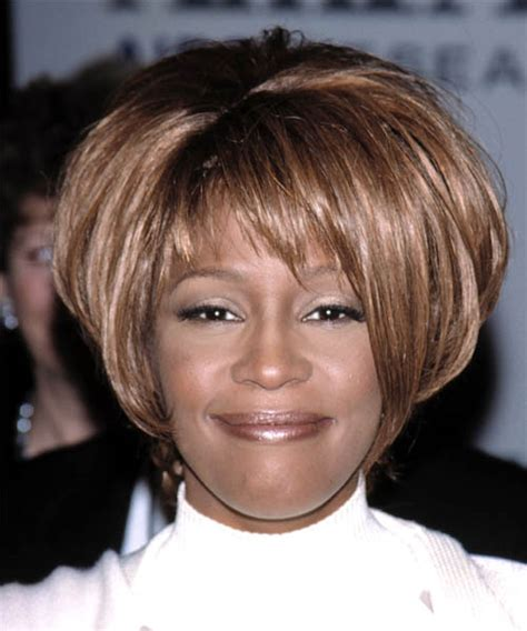 free haircuts houston texas whitney houston short straight casual hairstyle