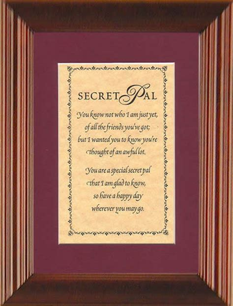 secret pal poems printable secret pal poems quotes