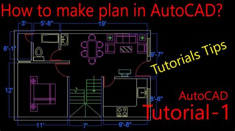 online tutorial of autocad autocad tutorials hindi plan making in autocad
