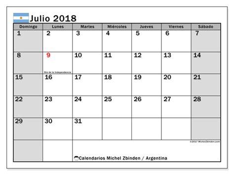 Calendario Outubro De 2018 Calendario Julio 2018 Argentina