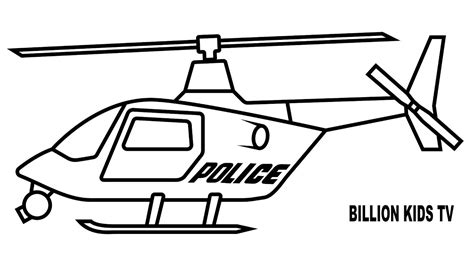 how to draw a police boat police helicopter coloring for kids youtube