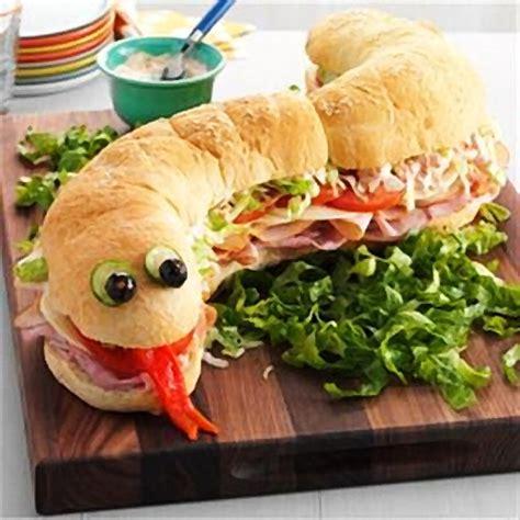 halloween snake sandwich best fast cheap easy party food