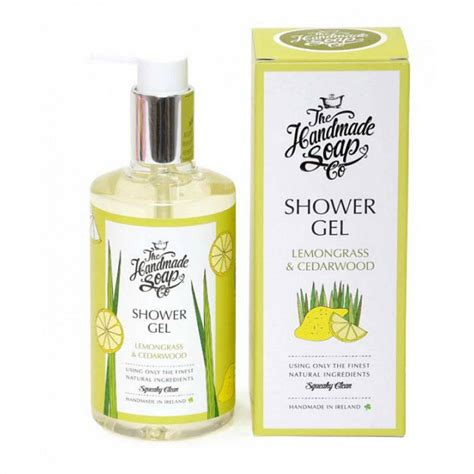 Handmade Shower Gel - lemongrass and cedarwood shower gel by the handmade soap