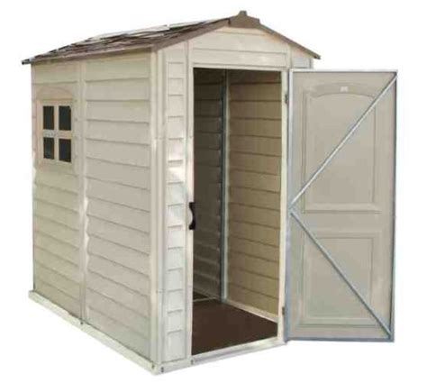 Plastic Flooring For Sheds by Duramax 4 X 6ft Premier Series Vinyl Storage Sheds With Plastic Floor And Fixed Window Garden