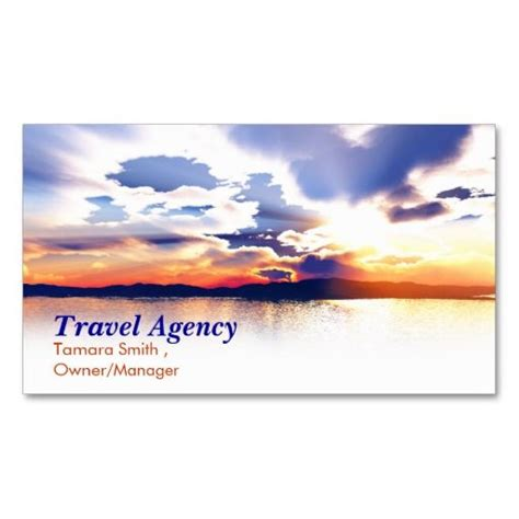 travel business card templates travel agency business card templates