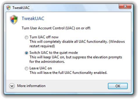 installing xp uac how to disable windows vista permission security prompts