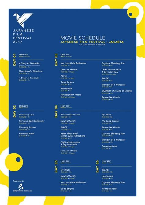 cgv grand indonesia jadwal japanese film festival jff cgv grand indonesia jakarta