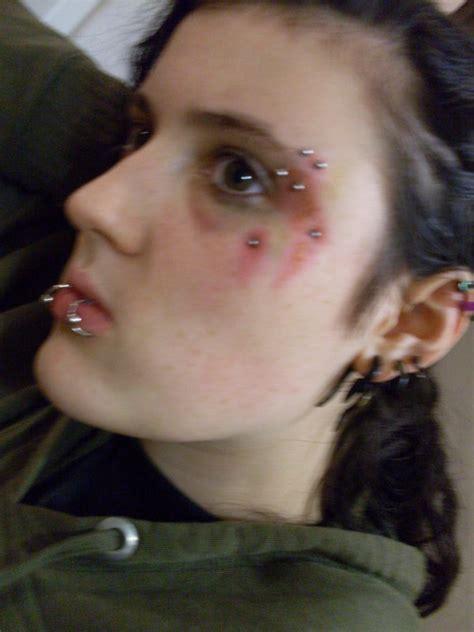 infected piercing by tara duck on deviantart