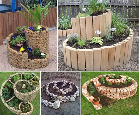 Garden Diy Ideas Garden Design With Gardening Landscaping Ideas And Diy Small Designs Inspirations Spiral Herb