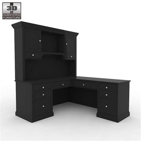 home workplace furniture 06 set 3d model hum3d