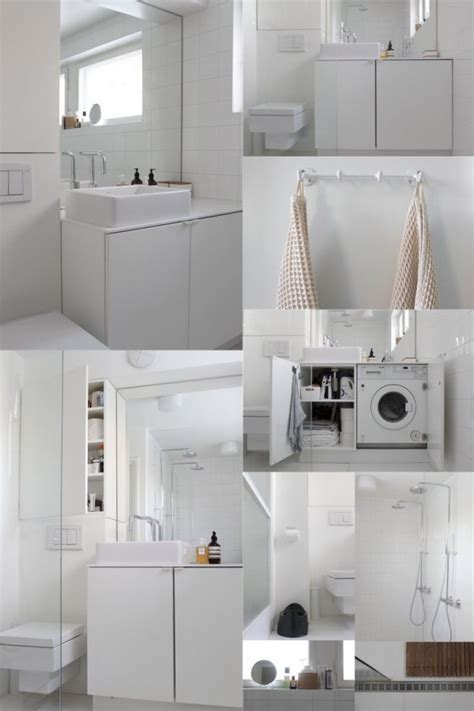 Bien Integrer Machine A Laver Dans Salle De Bain #3: petite-salle-de-bain-lave-linge-idee.jpg