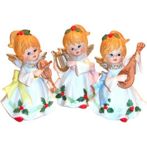 musical figurines vintage homco 3 painted porcelain musical