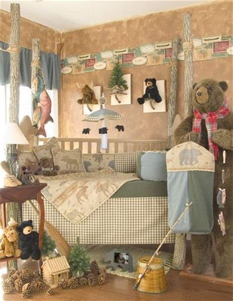 moose baby bedding bear and moose baby shower glenna jean kodiak 5 piece