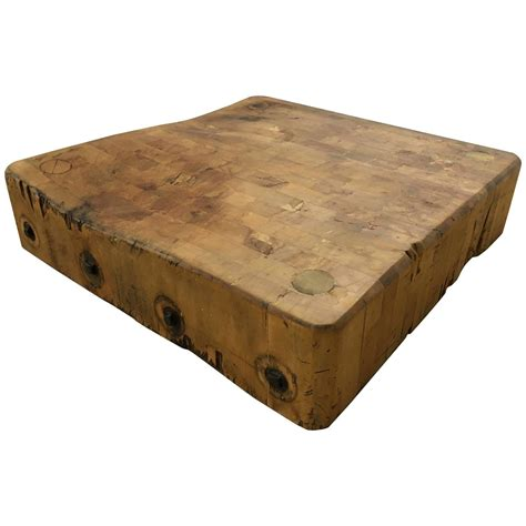 handsome butcher block top for sale at 1stdibs