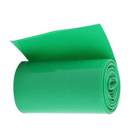 ?High Quality 2M ? 50mm 50mm Dark Green PVC Heat Shrink Tubing ? Wrap Wrap for 2 x 18650 Battery