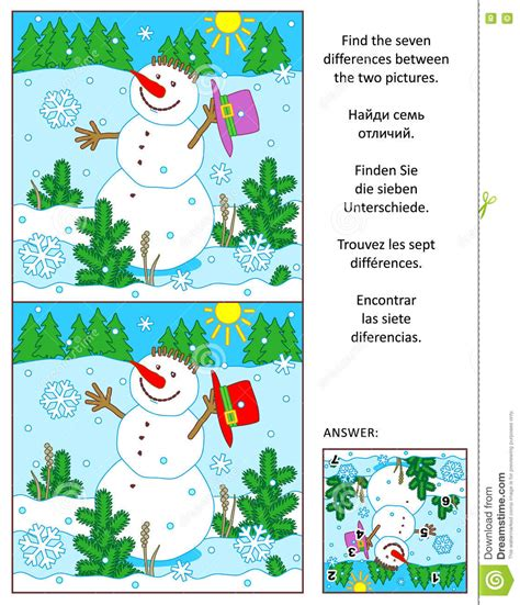 Amazing Compare Christmas Tree Prices #7: Winter-new-year-christmas-find-differences-picture-puzzle-snowman-visual-seven-two-pictures-holiday-present-77253464.jpg