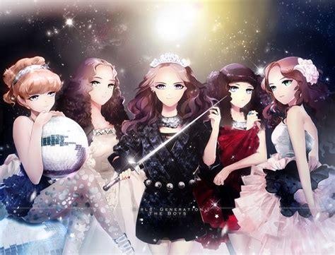 theme line yoona girls generation snsd anime tiffany taeyeon yoona