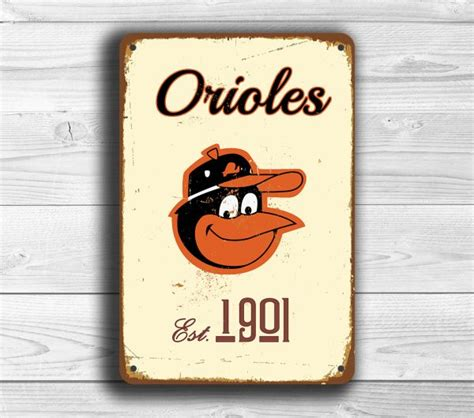 Cincinnati Reds Home Decor Baltimore Orioles Sign Classic Metal Signs