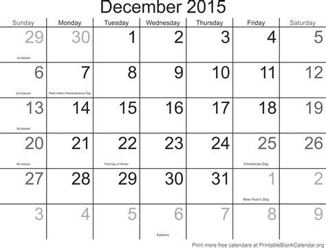Blank Calendar December 2015 December 2015 Calandar Printable Blank Calendar Org
