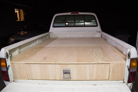 truck bed drawers plans what this guy put in the back of his truck made me so