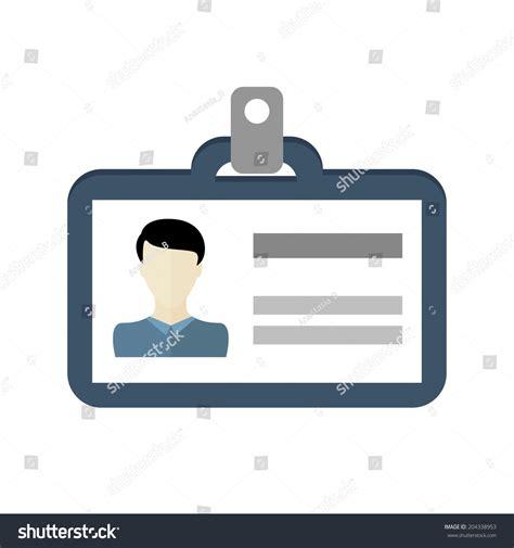 id card flat design identification card icon man male id stock vektor