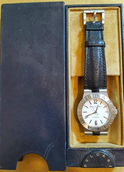 Jam Tangan Bulgari Crono White Steel Leather jual beli tukar tambah service jam tangan mewah arloji original buy sell trade in service