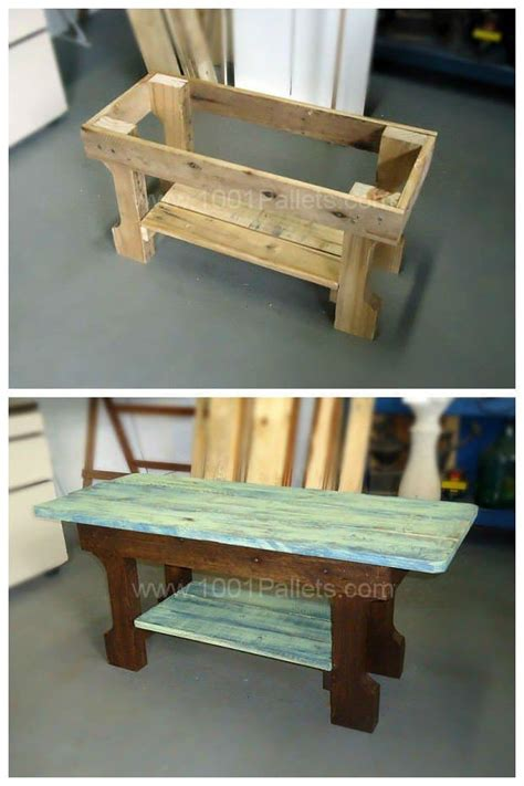 shabby chic pallet coffee table  pallets