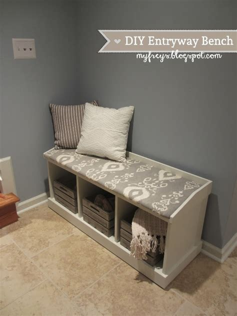 diy entryway chad and elana frey diy entryway bench