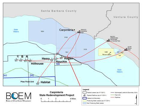 carpinteria california map carpinteria offshore field redevelopment project boem