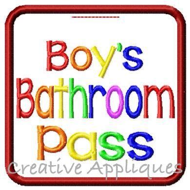 boys bathroom pass boys bathroom pass