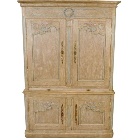 baker furniture armoire large country french baker furniture paint decorated