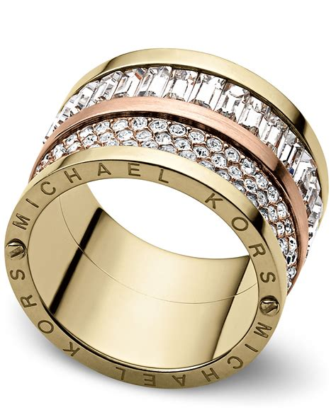 Michael Kors Ring by Michael Kors Brilliance Pave Barrel Ring Ring Size O S