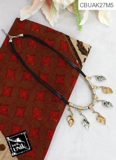 Kalung Coker 2 Susun 2 kalung tali tembaga alumunium salma kalung etnik murah batikunik