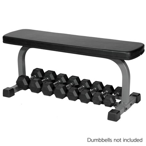 dumbbell set with bench xmark flat weight bench with dumbbell rack xm 4414 ebay