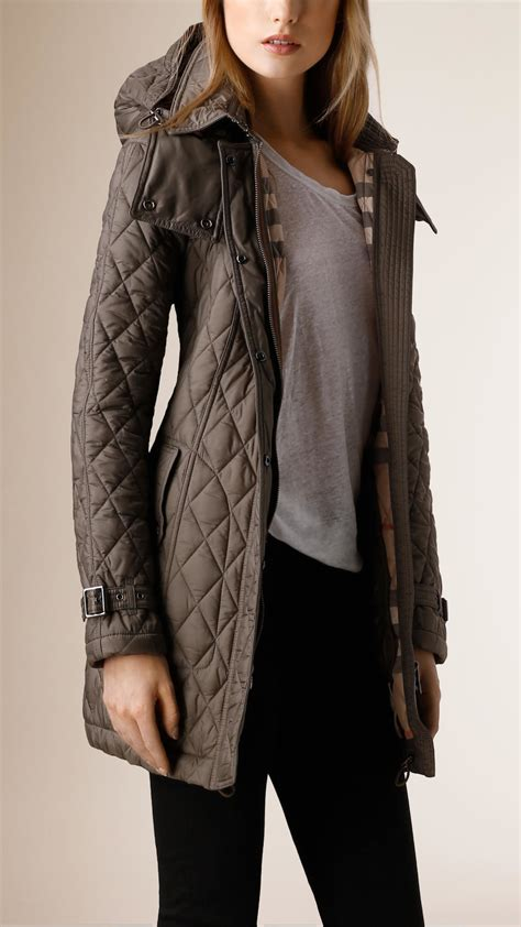 Quilted Coat burberry quilted coat in gray mink grey lyst