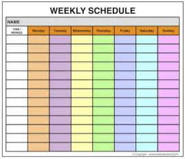 Microsoft Word Weekly Calendar Template by Weekly Calendar Template Printable Microsoft Word Excel