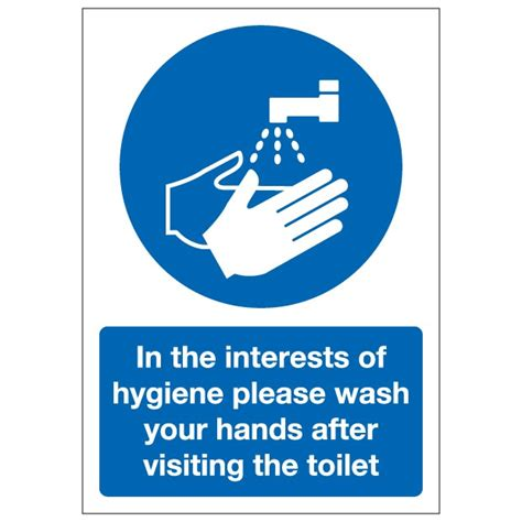 wash your hands after going to the bathroom in the interests of hygiene please wash your hands after