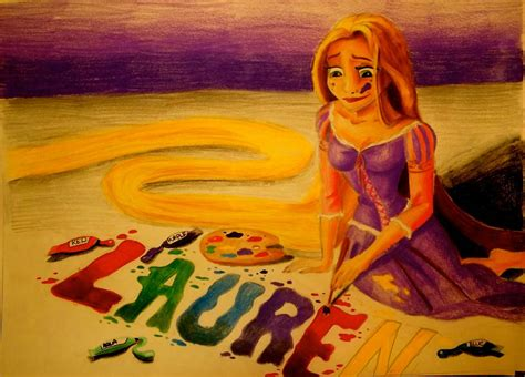 painting rapunzel commission rapunzel painting by x12rapunzelx on deviantart