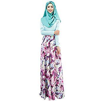 Floral Dress Maxi Gamis Muslim by Weixinbuy Islamic Muslim Abaya Floral Maxi Partywear