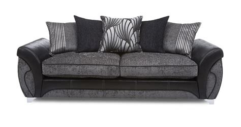 dfs black and grey sofa matinee charcoal grey fabric set includes 4 seater sofa