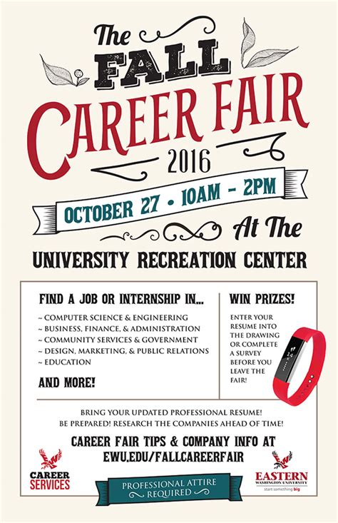 event design graduate jobs fall career fair