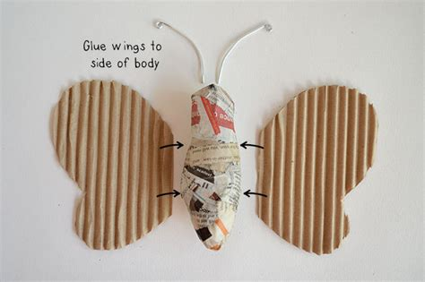 How To Make A Paper Mache Butterfly - paper mache crafts for paper mache butterfly