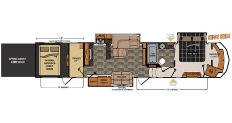 5th wheel toy hauler floor plans 1000 images about rv on pinterest