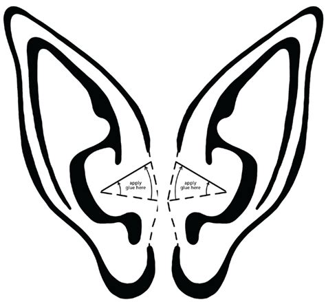 printable elf stencils elf ear template christmas pinterest elf ears elves