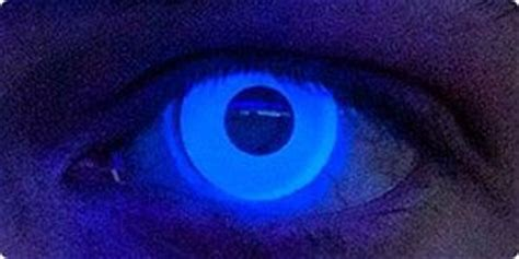 Black Light Contacts by Black Light Reactive Contact Lenses
