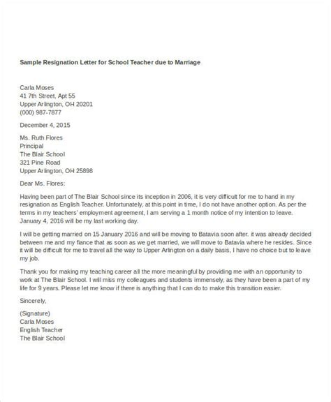 Resignation Letter Sle Due To Marriage by Resignation Letter With Reason Template 10 Free Word Pdf Format Free Premium